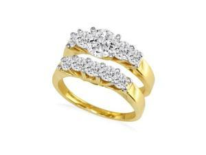 2ct Diamond Bridal Set With 3/4ct Center Diamond in 14k Yellow Gold