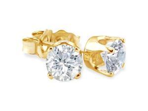 BLOWOUT Price. 1/4ct Diamond Stud Earrings in 10k Yellow Gold.