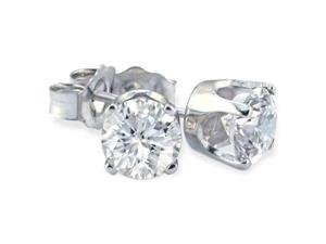 1/3ct Value Priced Diamond Stud Earrings In 10k White Gold