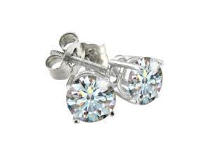 2ct Hearts & Arrows Diamond Earrings in 18k White Gold, G, SI1