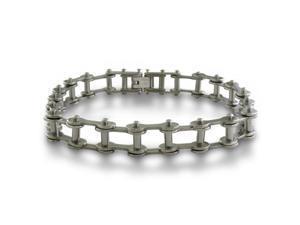 8.5 Inch Men's Stainless Steel Open Bike Chain Bracelet