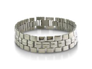 8 Inch Watch Band Style Men's Stainless Steel Bracelet