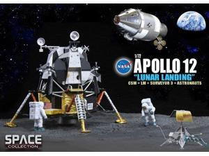 "1/72 Apollo 12 ""Lunar Landing"" , CSM + Lunar Module ""Intrepid"" + Surveyor 3 + As"