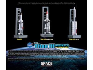 1/400 Titan III Rockets w/Launch Pads Set - Contains 3 Rockets (Space)