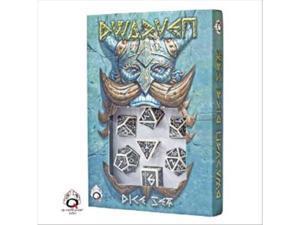 White & Black Dwarven Dice Set (7)