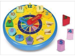 (n) Wooden Shape Sorting Clock