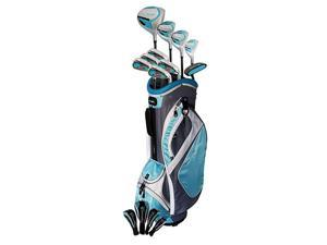 NEW Lady PowerBilt Countess Complete Golf Set Driver Wood Hybrid Irons Cyan +1""
