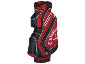 "NEW Callaway Golf Chev Cart / Carry Bag 10"" 14-way Top Red / Black / White 2015"