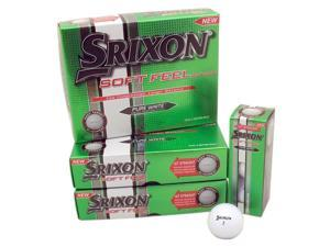 3 Dozen NEW Srixon Golf Soft Feel 36 Golf Balls - White 2 Piece Straight