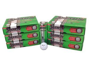 6 Dozen NEW Srixon Golf Soft Feel 72 Golf Balls - White 2 Piece Straight