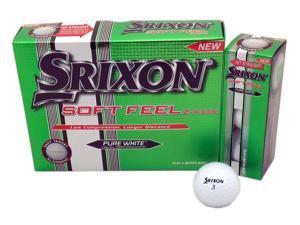 1 Dozen NEW Srixon Golf Soft Feel 12 Golf Balls - White 2 Piece Straight