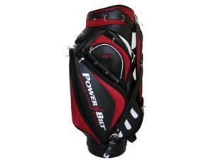 NEW PowerBilt Golf Air Force One N7 Air Foil Staff Bag 6-way Top Red / Black
