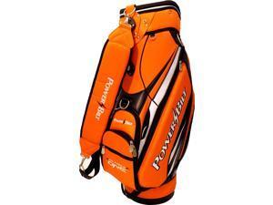 NEW PowerBilt Golf Air Force One N7 Air Foil Staff Bag 5-way Top Orange / Black