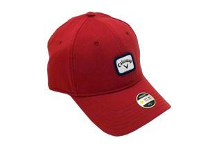 NEW Callaway Label 82 Fitted Golf Hat UV Coating Size L/XL Red