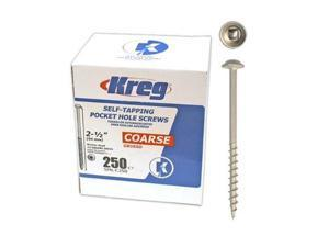 Kreg SML-C250-250 2-1/2-inch Coarse Screw - 250 Count