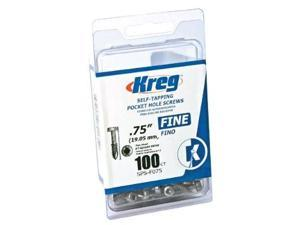 Kreg SPS-F075-100 3/4-inch Fine Self-Tapping Pocket Hole Screws - 100 Count