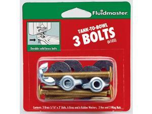 """2-3/4"""" Tank To Bowl, Three Bolts Fluidmaster Nuts and Bolts 6105 039961061058"""