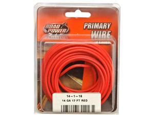 Woods Ind. 14-1-16 PVC-Coated Primary Wire-17' 14GA RED AUTO WIRE