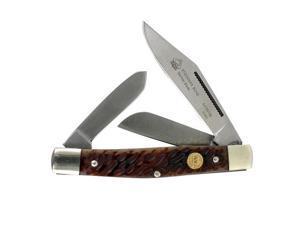 Puma Knives 6410675B Stockman, SGB German Blade, Brown Jigged Bone Handle