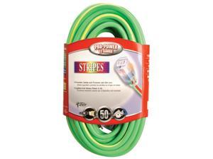 Coleman Cable 50ft. Green & Yellow 12-3 Outdoor Extension Cord  02548-52