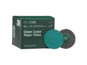 3M 1396 2-inch Green Roloc Disc - 50-Grit - 25-Pack
