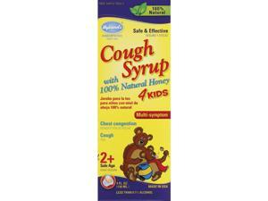 Hyland's Cough Syrup 4 Kids with Honey, 4 Fluid Ounces (Pack of 8)