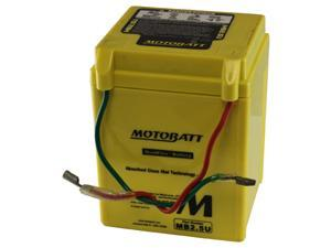 MotoBatt MB2.5U Battery 12V 2.5A Factory Activated Quadflex AGM Battery
