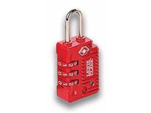 Lewis N. Clark TSA23RED TravelSentry Combo Lock Lrg 3Dial Red
