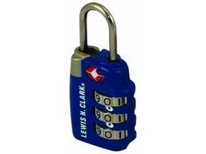 Lewis N. Clark TSA23BLU TravelSentry Combo Lock Lrg 3Dial Blue