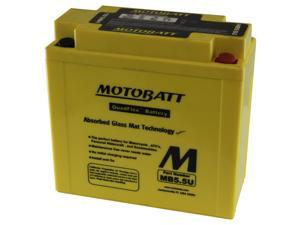 MotoBatt MB5.5U Battery 12V 7A 105CCA Factory Activated Quadflex AGM Battery