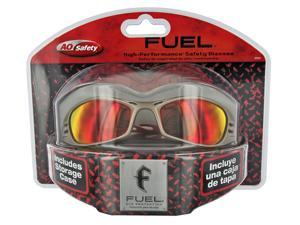 3m Titanium Frame & Red Mirror Lens Fuel Safety Glasses  90987-80025T