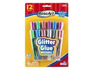 Washable Glitter Glue Pens, Assorted, .36 Oz Tube, 12/Pack