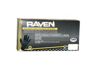 SAS Safety 66520 Raven Powder-free Nitrile Gloves XXL