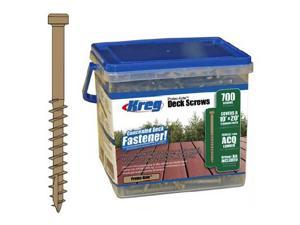 Scr Dck No 8 2In Pan No 1 Sq KREG Deck Screws - Bulk SDK-C2W-700 647096801762