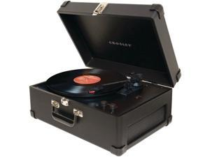 Crosley CR49-BK Traveler Turntable, Black