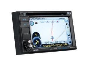 SOUNDSTORM DD620NV 6.2in Double-Din In-Dash Touchscreen Navigation DVD Receiver