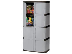 Rubbermaid FG708300MICHR 72-in Mica and Charcoal Full Double Door Cabinet