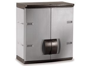 Rubbermaid 788800MICHR 24-in Mica and Charcoal Wall Cabinet