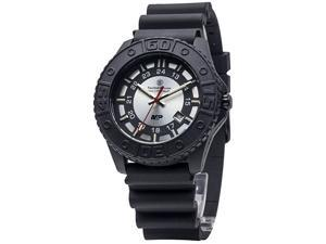 Smithwess SWW-MP18-GRY Military and Police Tritium Gray Face Black Stainless Str