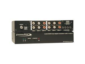 CHANNEL PLUS 5525 Deluxe Series Modulator with IR Emitter Ports Dual Source