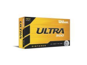 Wilson WGWR58100 Ultra 500 Distance Golf Ball 15pk White