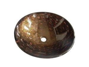 Kingston Brass EVSPFB1 Fauceture Bologna Round Amber Bronze Glass Vessel Sink
