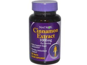 Natrol Cinnamon Extract 500mg, 80 Tablets