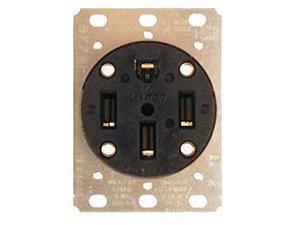 Leviton 071-279 50 Amp 4 Watt Industrial Grade Straight Blade Flush Mount Recept
