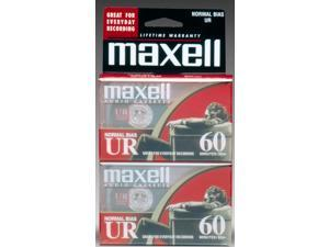 Maxell 109024 60 Minute UR Audio Tape 2 Pack