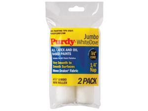 Purdy 140624010 4-1/2in Jumbo White Dove Paint Roller With 1/4in Nap 2 Count