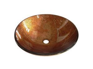 Kingston Brass EVSPFB2 Fauceture Milano Round Amber Bronze Glass Vessel Sink