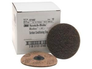 3M 7482 4-inch Brown Surface Conditioning Discs- 10-Pack