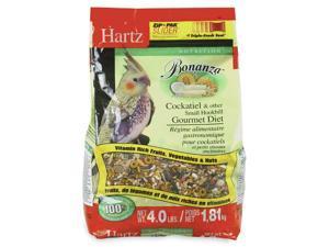 Hartz 97622 4 Lb Nutrition Bonanza Cockatiel and Other Hookbill  Gourmet Diet
