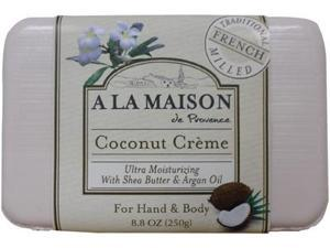 A La Maison 1172220 Bar Soap Coconut Creme 8.8 Oz